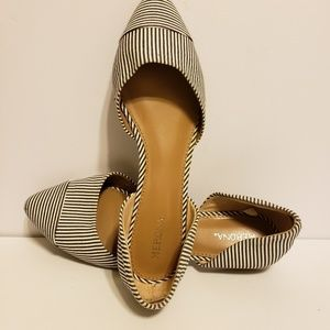Merona Black and White Flats, 7.5